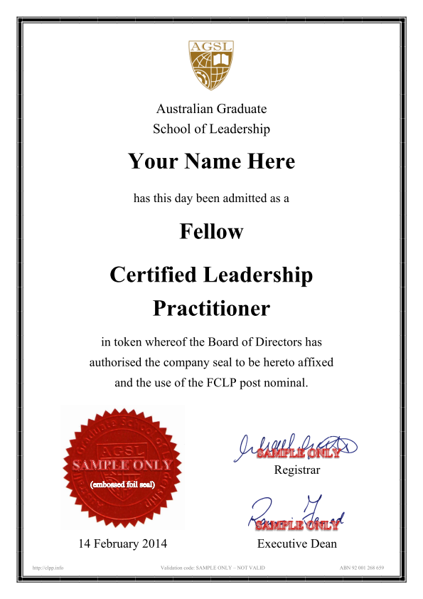 certified leadership practitioner
