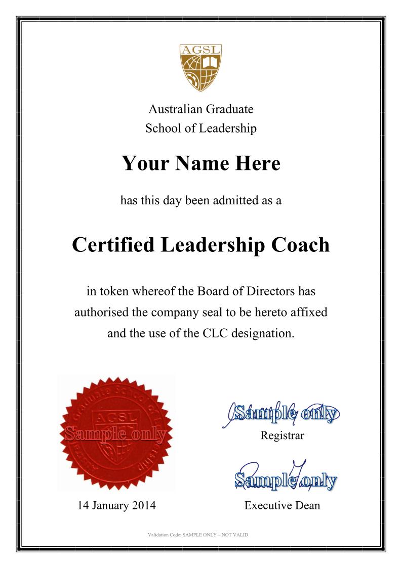leadership coaching australian graduate school of leadership